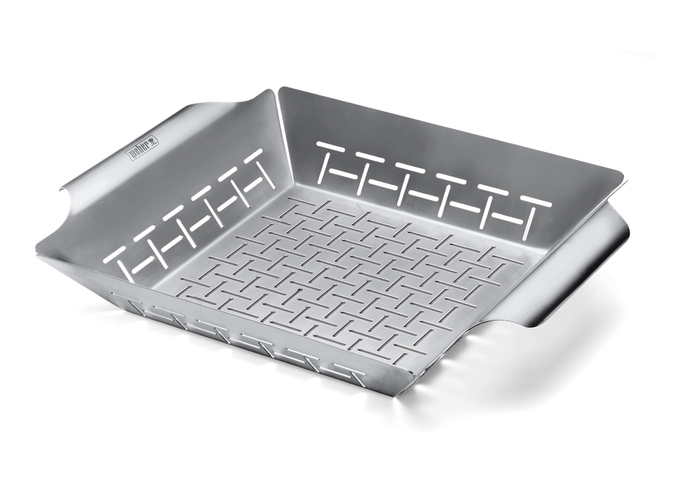 Deluxe Grilling Basket for Q300-3000 and larger gas barbecues, and 47cm and larger charcoal barbecues